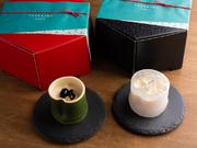 生駒市の食材を使用した『ためひめプリン』は、地域と福祉をつなぐ愛が溢れる一品。酒蔵「上田酒造」の大吟醸米酒のゼリーがたっぷり乗った『たけひめプリン大吟醸プレミアム』も堪能できます。