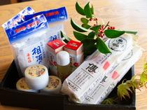 店主の出身地、長崎県五島列島の特産品