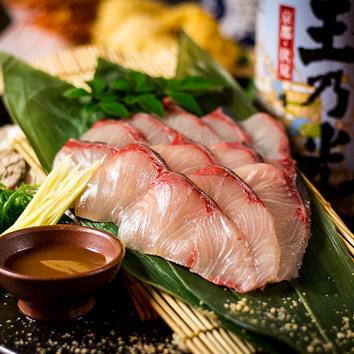 ●牡丹コース 鶏の天麩羅・鯛のしゃぶしゃぶ付8品