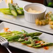野菜そのものの味を堪能する『アスパラのカルパッチョ』