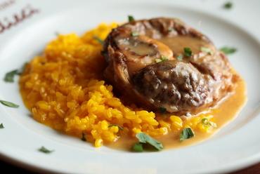 ミラノ郷土料理の代表格『ミラノ風リゾットとオッソブッコのpiatto unico』
