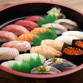 職人技が光る『寿司』。鮮度もクオリティも抜群なネタの美味しさを、さっぱり系のシャリが引き立てる