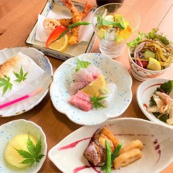 ◇旬彩料理 串本逸魚包み焼きコース 3500円