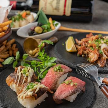 『肉寿司コース』3時間飲み放題付き3980円→2980円