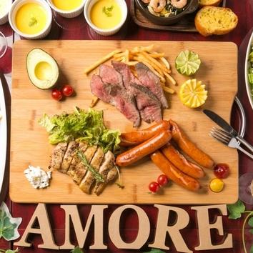 『アモーレ肉尽くしコース デラックス』10品+3時間食べ飲み放題