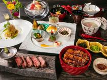 岐阜県をはじめとした旬の味覚を楽しめる『季節のコース』