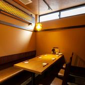 ビジネスシーンに使える、落ち着きのある個室空間