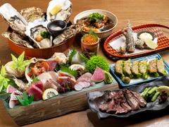 肉も魚も味わえる安定感抜群のコスパ最強プラン! お得な飲み放題付です!
