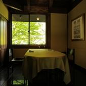 自然の緑深い【有馬山叢 御所別墅】に併設されたレストラン