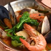 ポルトガル南部アルガルヴェ地方の郷土料理『カタプラーナ(ポルトガル風 魚介と季節野菜の鍋)』