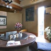 半円形の鉄板を設置した3個室。各部屋6名様まで収容可能