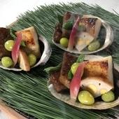 銀鱈の西京焼きと、お肉の盛り合わせ