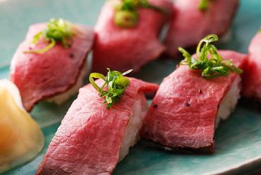 新鮮肉の握り寿司 4貫