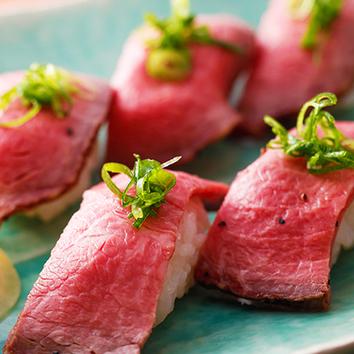 『炙り肉寿司食べ放題』2時間食べ放題1680円(税抜)