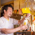 店主・伊藤氏が特に大切にしていきたいと話すのは、カウンターでのコミュニケーション。利用ニーズにあった距離感で、ゲストを退屈させないもてなしを日々意識しています。