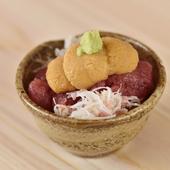 一口ほおばれば、海の幸の美味しさが口の中を征服。ペロリと食べられる『ミニうに丼』