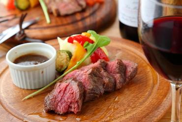 ジューシーで美味しいブラックアンガス牛希少部位『ザブトン』のステーキ