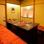 接待や会食にふさわしい、格式高い個室が完備されている