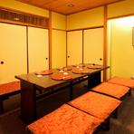 個室として利用できる座敷