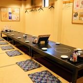各種宴会にもおすすめ完全個室は最大60名まで収容可能