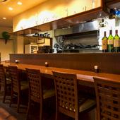 次に出合う料理に期待が高まる、心地のよい空間