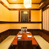 こだわりの料理と酒、くつろげる空間で、大切な方をおもてなし