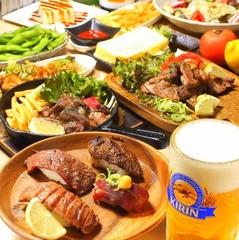 今の時期だからこそお得にお愉しみ頂けるコースをご用意!肉寿司やローストビーフなど当店人気料理ばかり!
