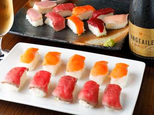 厳選和牛を使用したこだわりの『肉寿司』