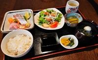 ・本日のお刺身  ・サラダ  ・小鉢  ・ごはん、味噌汁、香の物