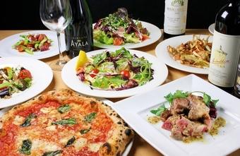 本場ナポリ仕込みの本格ピッツァを含むお料理コースです。ご予算に合わせてご用意いたしております。