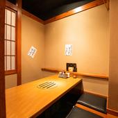 上質な空間、完全個室完備。