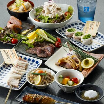 【9月コース】2H飲み放題付1周年記念~串だくさんの巻~3000円