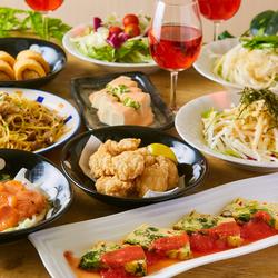 【ひまわりコース】サラダ食べ放題付き!お酒に合うおつまみや逸品料理盛りだくさんのお手軽プラン!