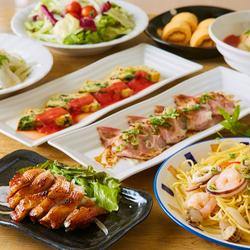 【すみれコース】サラダ食べ放題付き!ローストポークやBIGな照り焼きチキンなどがっつり満腹プラン!