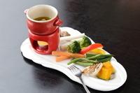 新鮮野菜をたっぷり摂れる『焼き野菜の食べ放題付きランチセット』