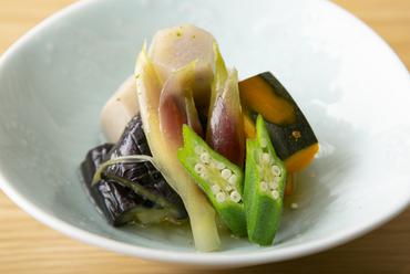 旬の野菜をおいしく楽しむ『野菜の炊き合わせ』