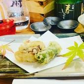 当日はこちらのコースを。旬の山海の幸を味わいつくす『旬の天ぷら九種おまかせコース』