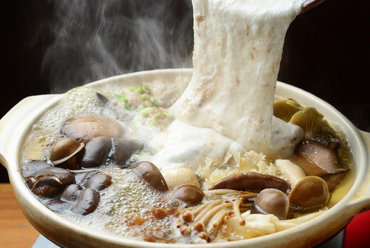 たっぷりきのこと自然薯とろろの塩麹発酵鍋
