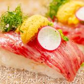 贅沢食材のコラボ『うにく寿司』