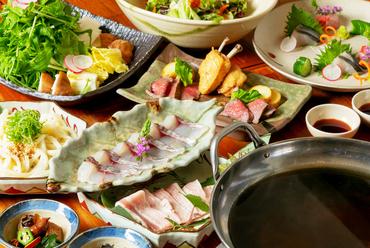 旨いものばかりを集めた『泉佐野漁港の鮮魚と国産豚のしゃぶしゃぶコース』