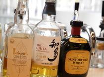 『白州』や『山崎』など、日本のウィスキーも取扱いあり