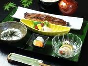 ・贅沢 うなぎの一本焼き・お造り・酢の物・食事(とろろセット)