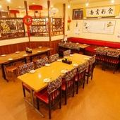 中華の雰囲気を感じながら、本格的な中華料理で宴会が楽しめる