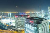 28階から望む横浜の幻想的な夜景を見ながら過ごす、特別な時間
