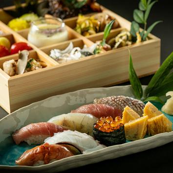 ■季節の御料理、こだわりの江戸前鮨プラン『鶴』プラン