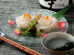 料理長が修業時代に考案し、レシピに磨きをかけた『真鯛の花〆』