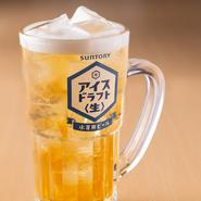 アルコール度数7%と高めで、氷を入れることで旨さが完成されるようつくられた『アイスドラフト』。最後までキリっと冷たく、かつビールの爽快感が持続します。