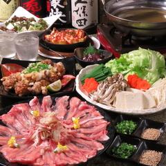 【喜集の極上の贅沢コース!】3時間飲み放題付!市場直送のヤリイカの姿造りなどお肉,海鮮が豪華全10品コース