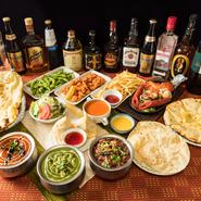 2種類用意されたコースは、全11品または13品の料理が食べ放題なうえ、生ビールや焼酎などのアルコールも飲み放題となるうれしい内容。少人数から団体での集まりまで、さまざまな利用シーンで活躍してくれます。