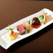 地元三重県が誇る銘柄牛・松阪牛を使った『コースメニューBコース(肉料理)』